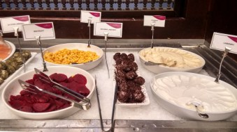 Breakfast buffet at the Crown Plaza