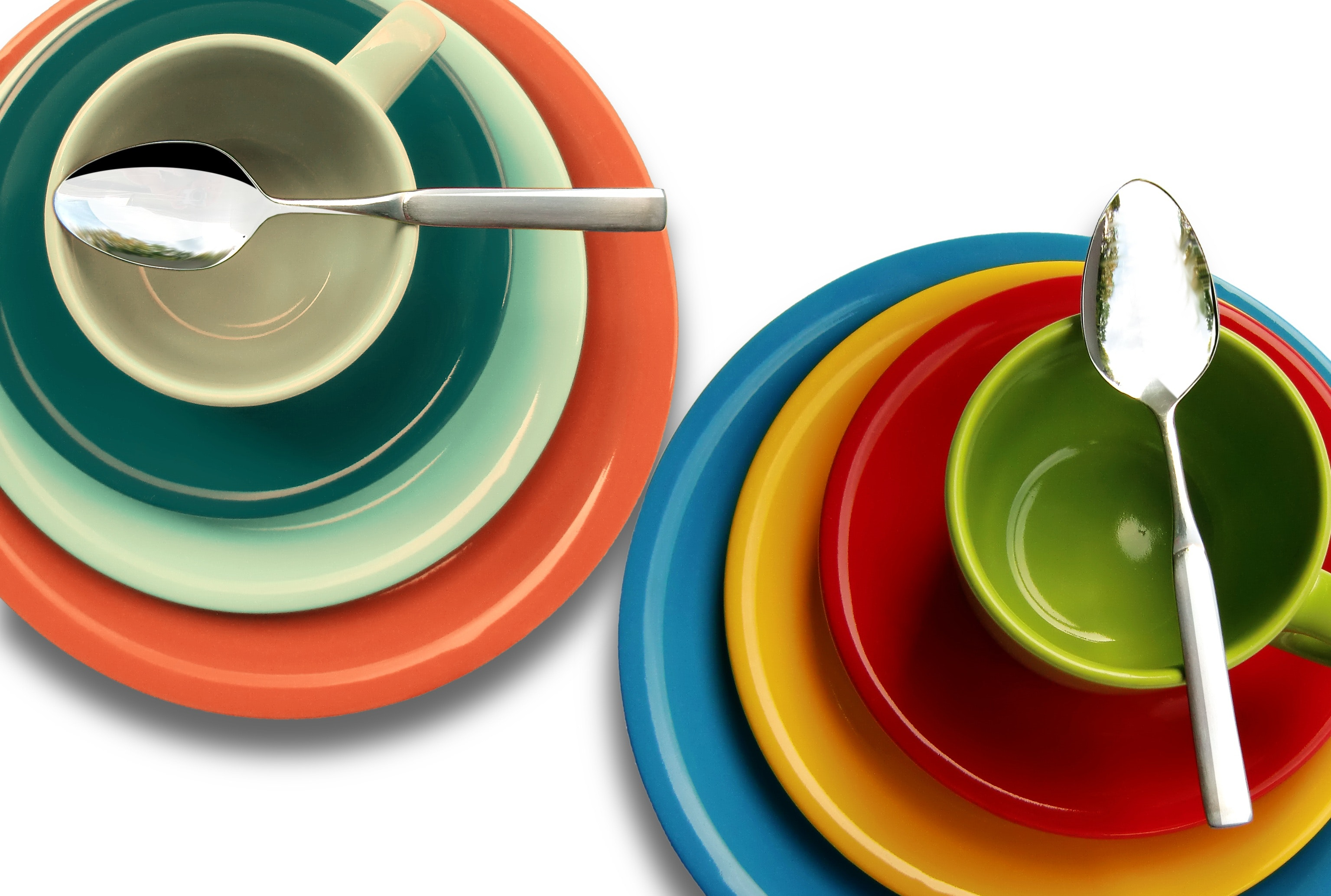 colorful dinnerware