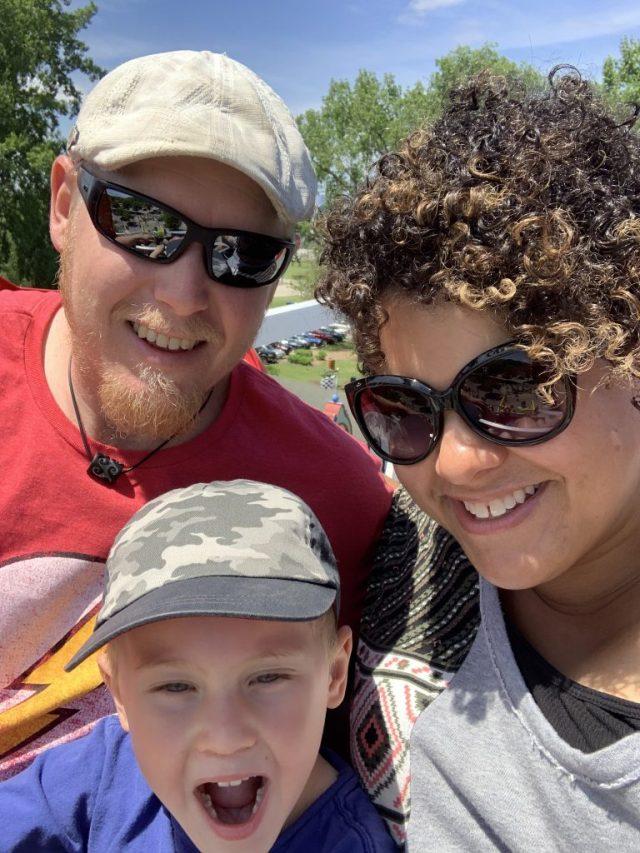 Family on the Ferris wheel