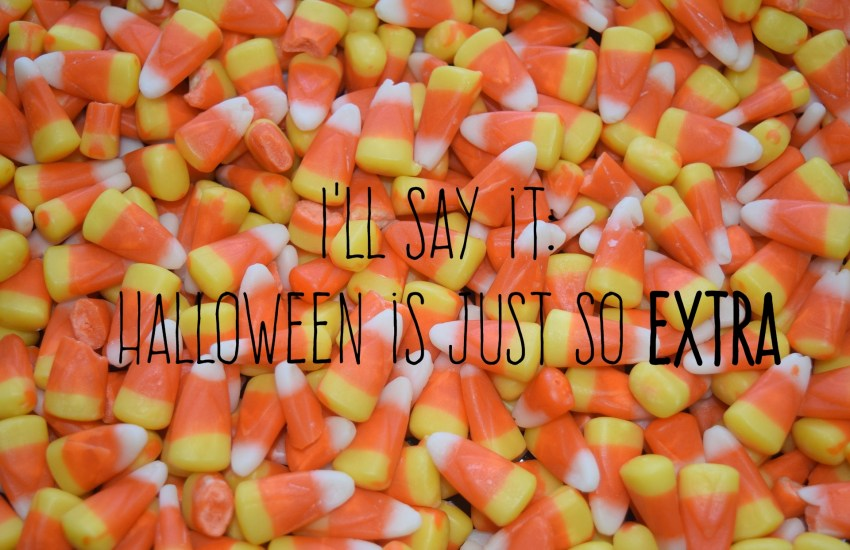 candy corn and title slide