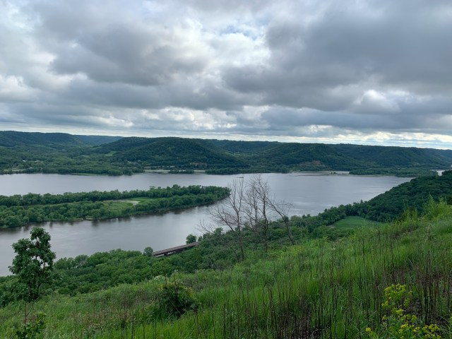 View from Brady's Bluff