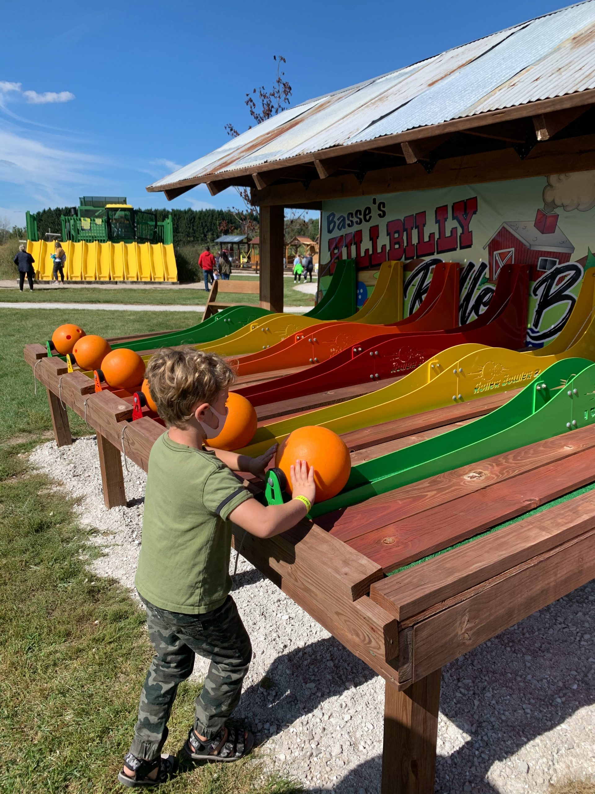 Pumpkin Bowling attraction at Basse's