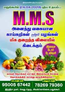 MMS VEGETABLES AND FRUITS