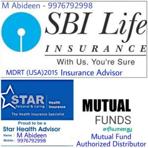 Insurance, Mutual Funds and Common Services - Contact Mr Abideen