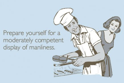 Prepare yourself for a moderately competent display of manliness.