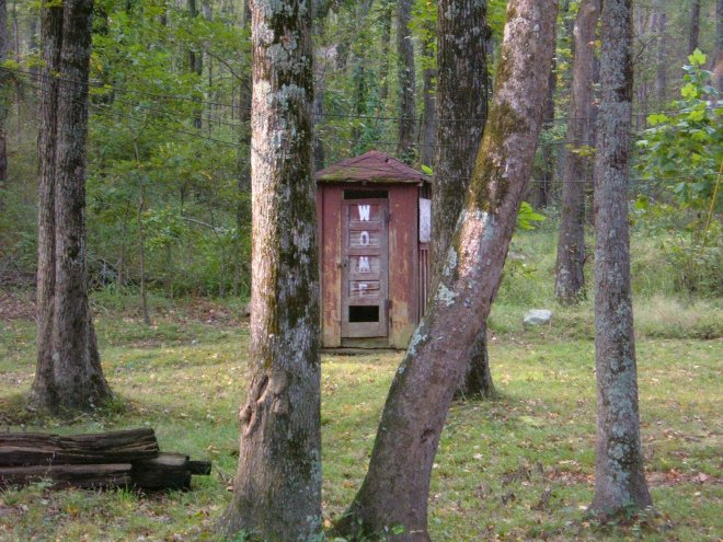 Outhouse behind the Stateline Tavern