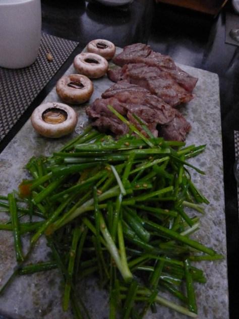 Kobe or Wagyu beef at Goong restaurant.