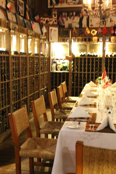 """The wine """"cellar"""" at Brujas."""