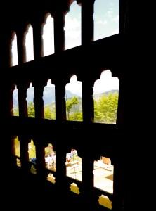 Fancy windows in Bhutan.