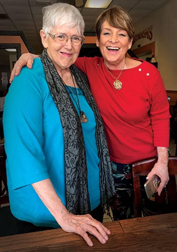 Jan Cole with Adelina Moya