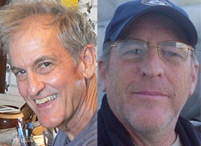 Sam Pickering and Bob Kunzinger, judges and editors of Madville Publishing's 2021 Essay Anthology, Being Home