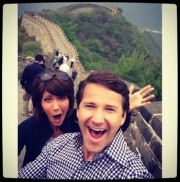 Rep. Kristi Noem (R-SD) and Rep. Aaron Schock (R-IL) at the Great Wall of China, April 2014.