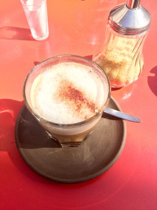 My cappuccino from Livresse.