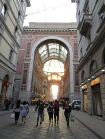 Milano's Galleria at sunset.