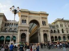 The entrance to the famous Galleria Vittoria Emanuele II.
