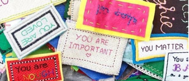 Embroidery sampeler saying you are important, you are enough, you matter, you are loved