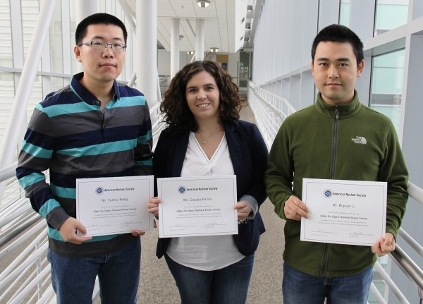 Three Nuclear Engineering Students And Alum Inducted