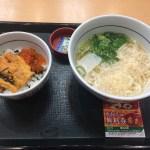 【南行徳】なか卯 南行徳店で、はいからうどんと生うに丼を食べてきた【安い、美味い】