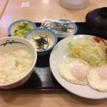 【三軒茶屋】松屋 三軒茶屋店、ソーセージエッグW定食とろろを食べてきた【これぞ日本人の朝食!!】