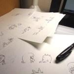 漫画家の仕事机の上はこんな感じに…