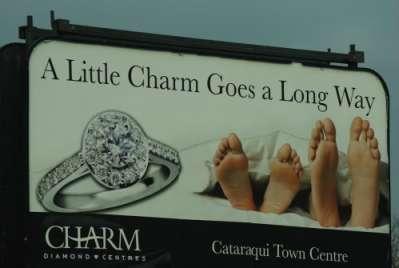 Werbetafel in Ontario, Kanada