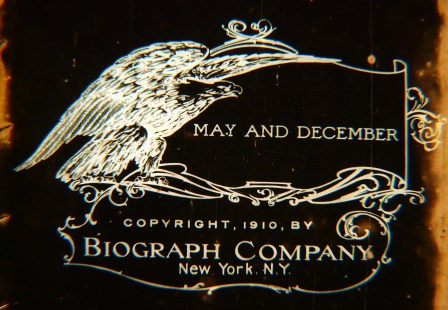 """""""May and December, 1910"""". Courtesy of Library of Congress' Nitrate Film Vault and George Willeman"""