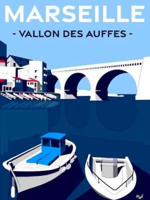 Affiche Vallon des Auffes