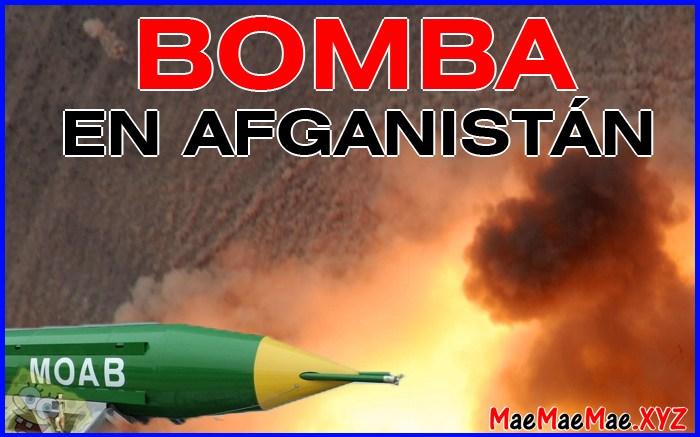 bomba moab afganistan