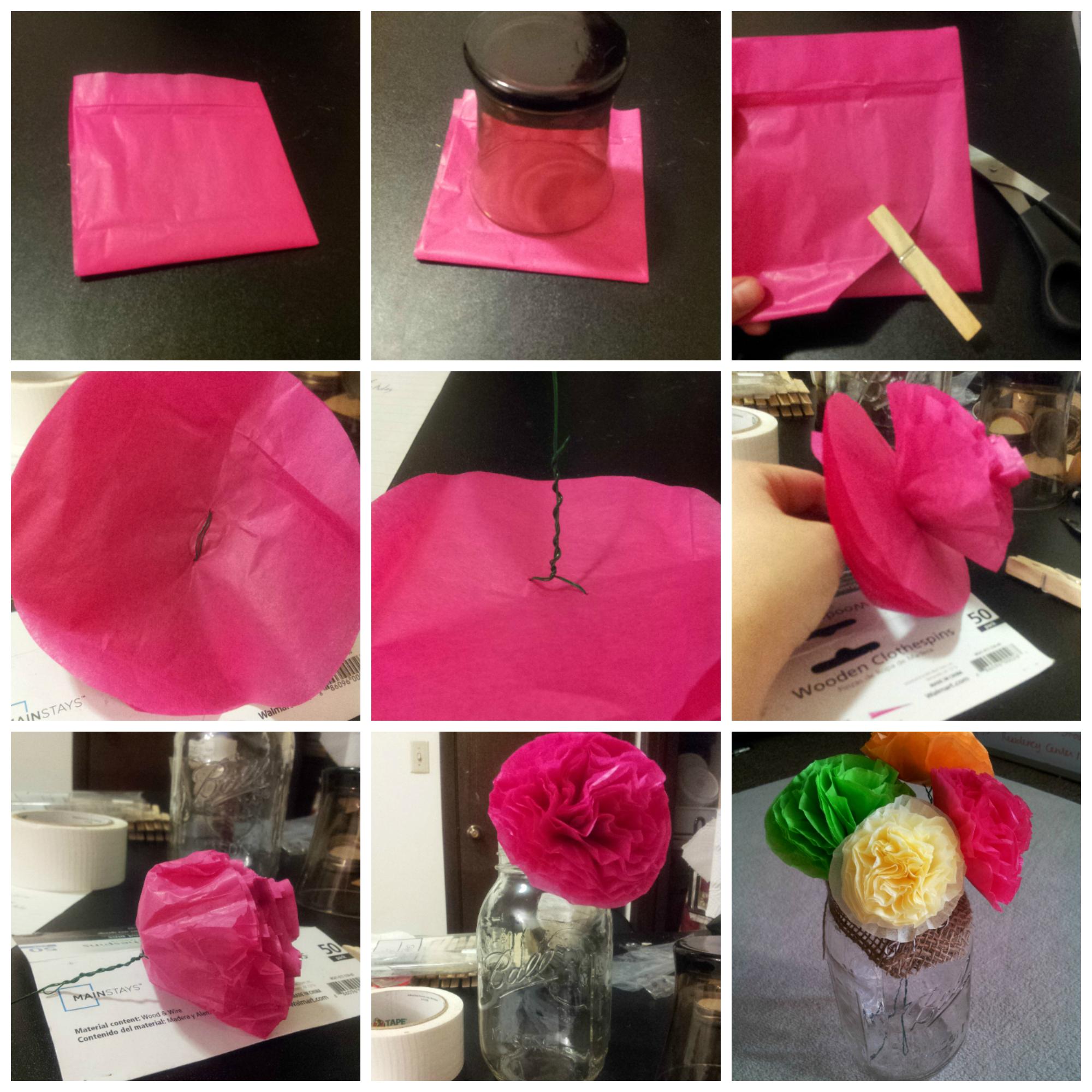 Tissue Paper Baby Shower Flowers  College Mom