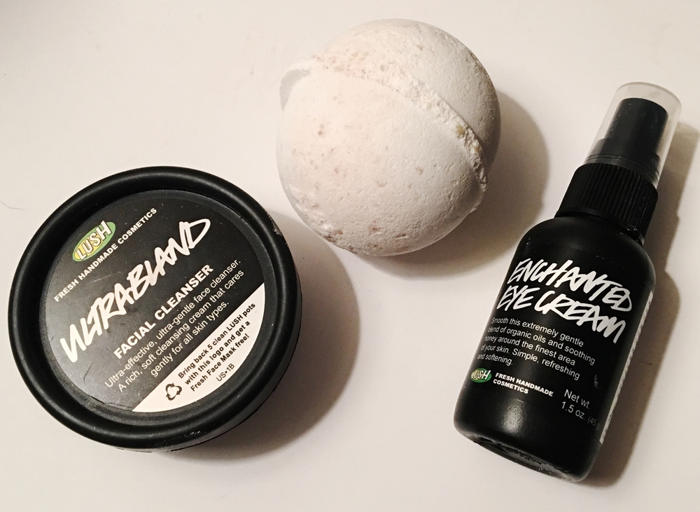 From left to right: Ultrabland, Butterball Bath Bomb, Enchanted Eye Cream