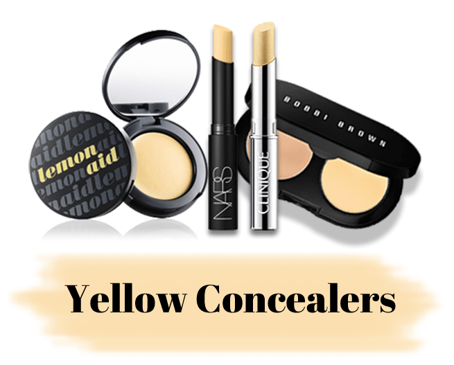 Consider These:Benefit Cosmetics Lemon Aid Concealer/NARS Concealer in Pale Yellow/Bobbi Brown Creamy Concealer Kit