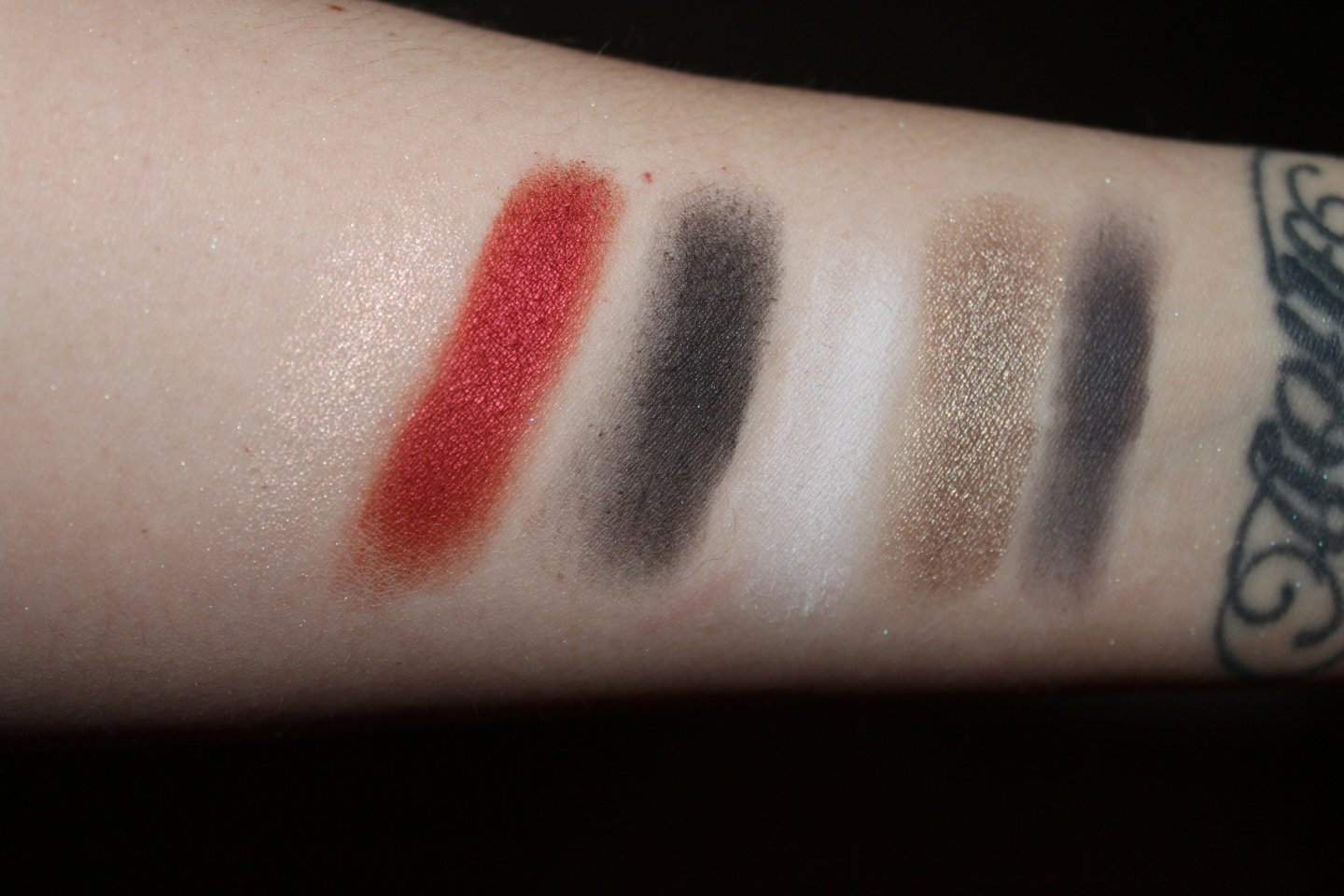 From left to right: Lovestruck (iridescent peach), Swoon (metallic scarlet), Devotion (matte jet black), Por Vida (matte white), Darling (metallic pewter), and Yours (matte stone gray).