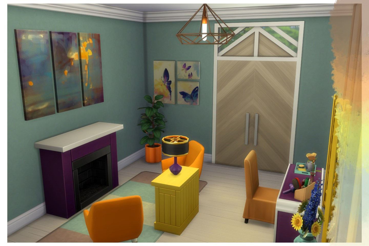 Sims 4 Color Palette Build