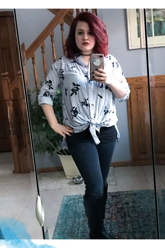Stripes and Floral OOTD 1