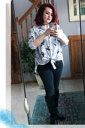 Stripes and Floral OOTD 4