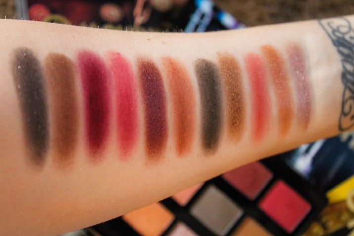 NYX Machinist Ignite Swatches
