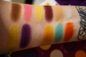 Storybook Cosmetics Charlie and the Chocolate Factory Swatches