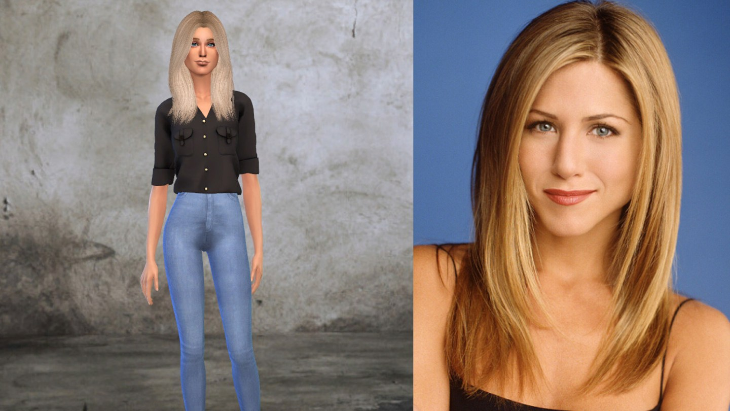 Friends Rachel Green Sims 4