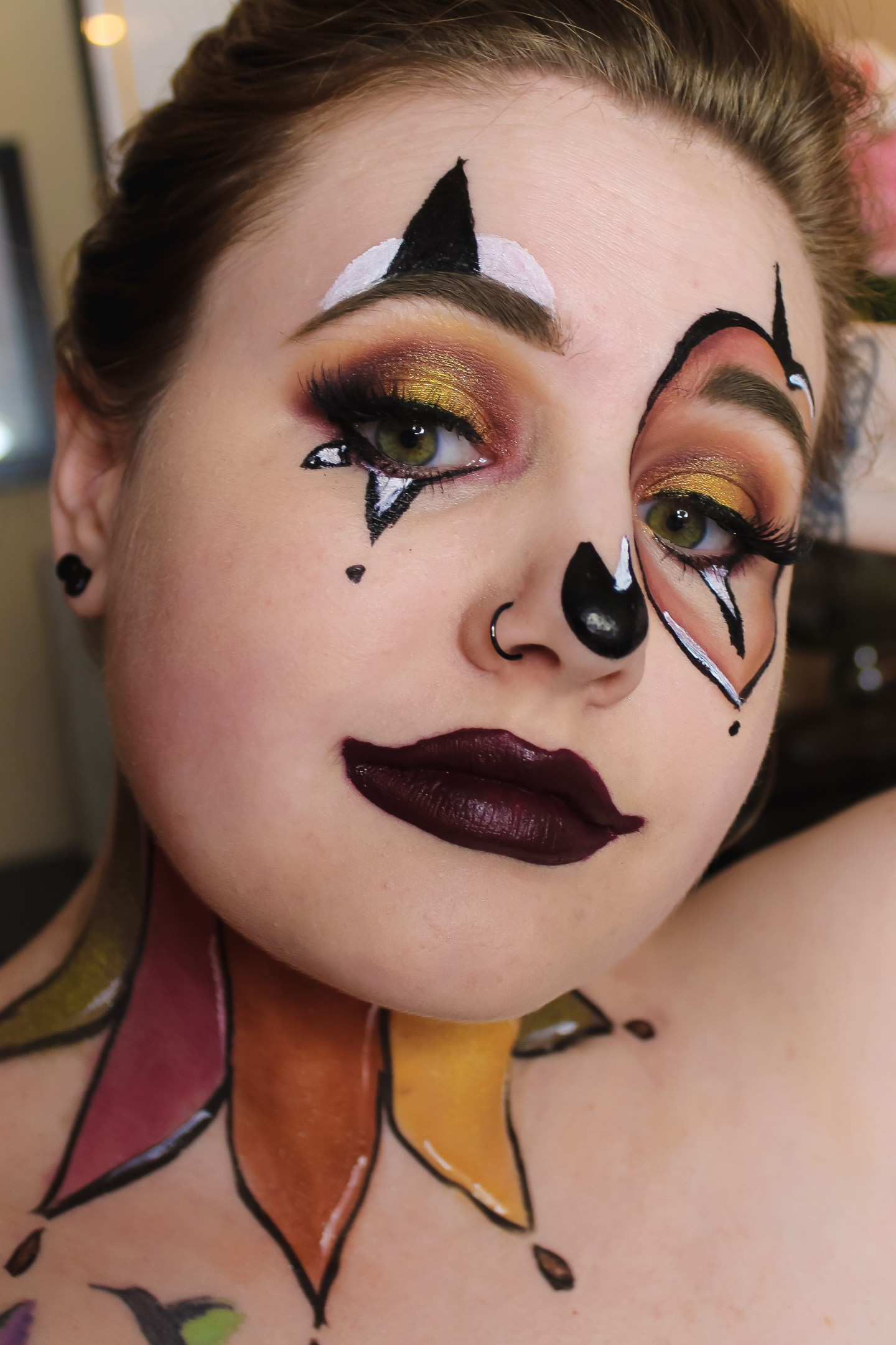 A Fool for Fall (Clown Recreation) Makeup Look 2