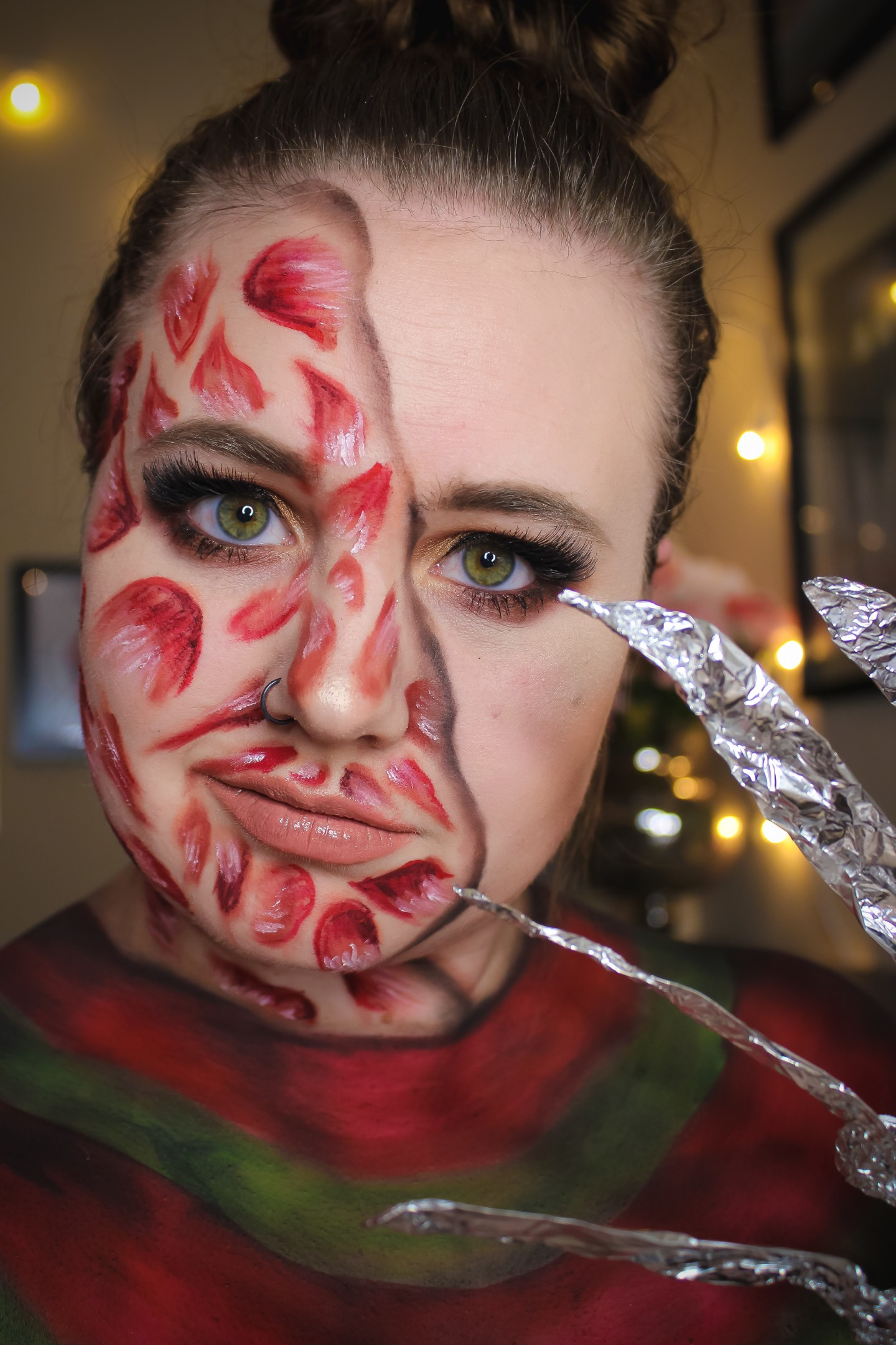 Why are you Screamin'? Freddy Krueger from A Nightmare on Elm Street Makeup Look 4