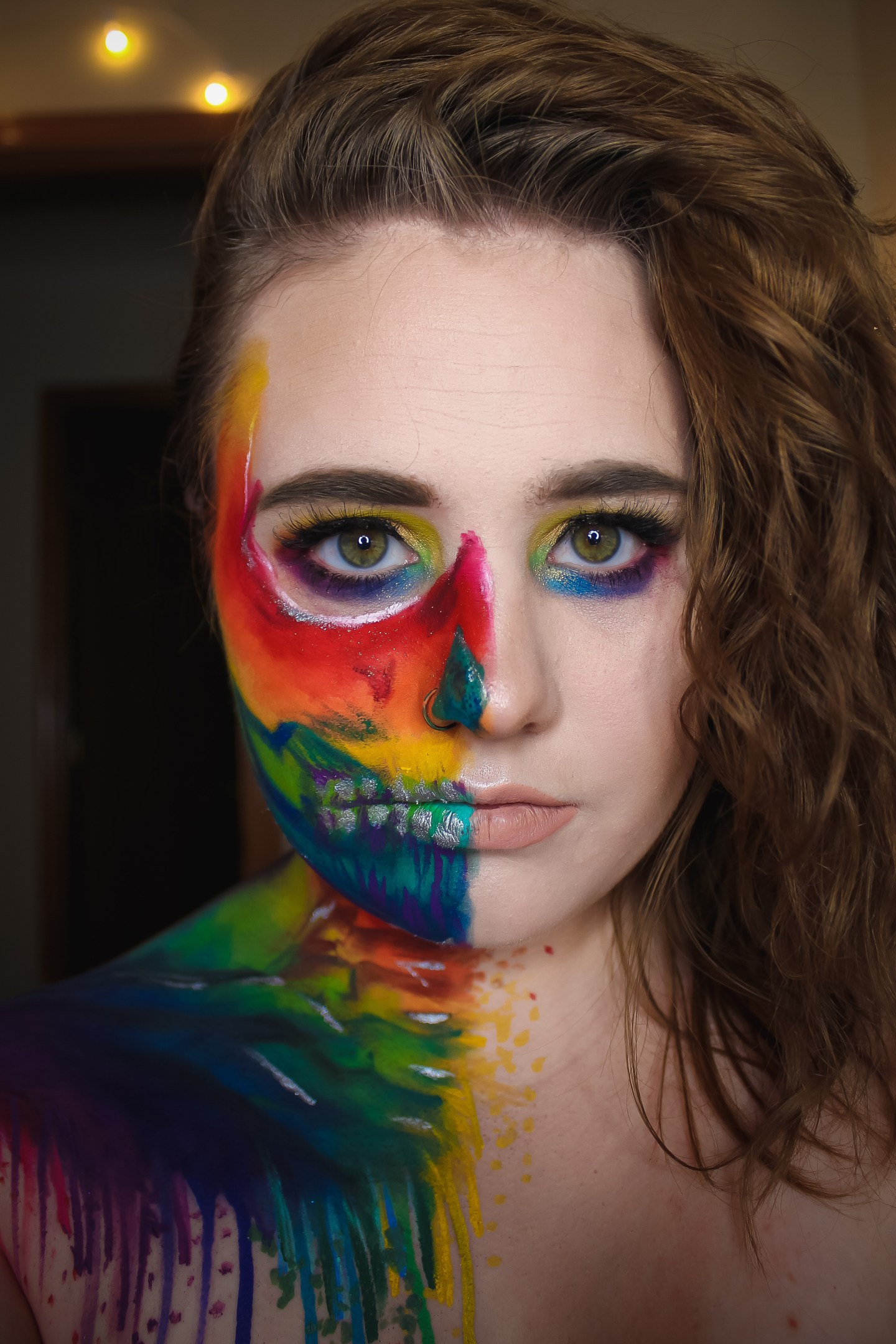 Rainbow Splatter Skull | Vanessa Davis & James Charles Inspired Makeup Look 4
