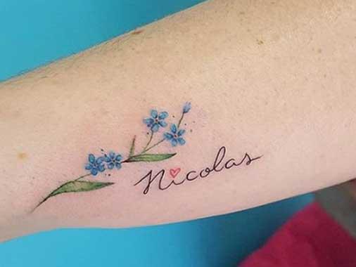 Tatuagem com nome de filho