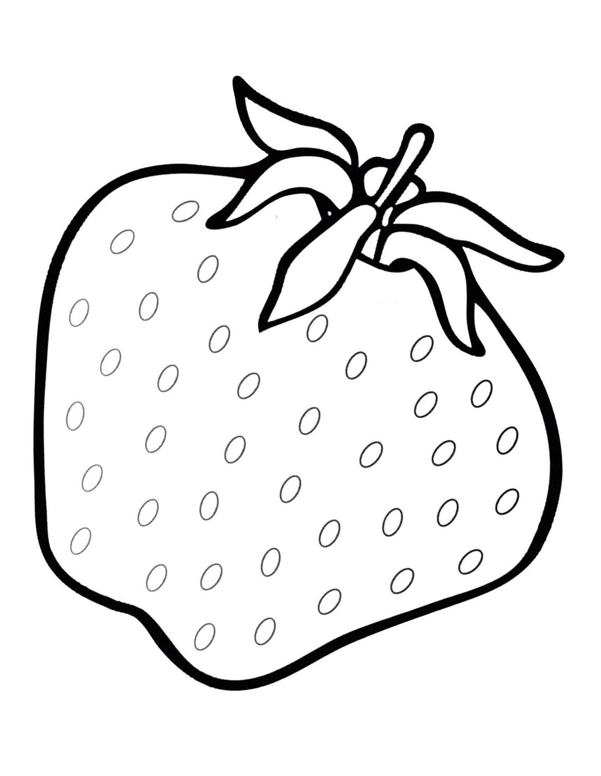 Erdbeere Ausmalbilder