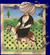 Mulla Nasrudin brachte eines Tage s vom Markt . . .