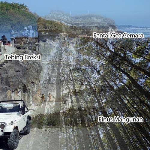 Trip Jogja 1D Tebing Breksi Hutan Pinus Pantai Goa Cemara