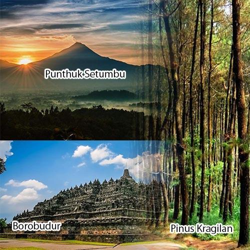 Trip 1D Jogja Punthuk Setumbu Borobudur Kragilan