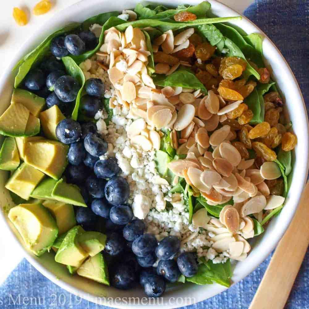 Blueberry & Avocado Spinach Salad
