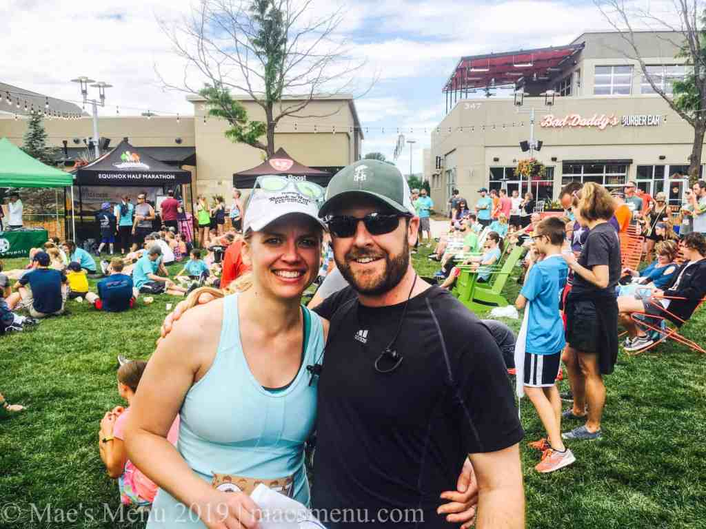 Chelsea Plummer & Chris Murphy  of Mae's Menu at the Father's Day 5k in Fort Collins.