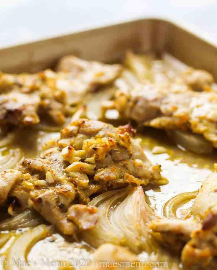 Sheet Pan Cuban Mojo Chicken