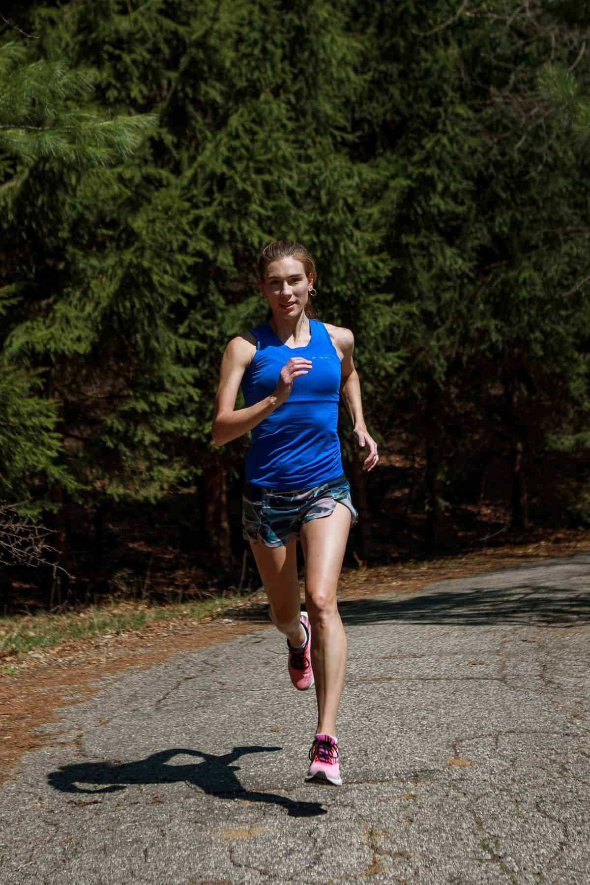 Adi, from AtoZrunning, running fast!